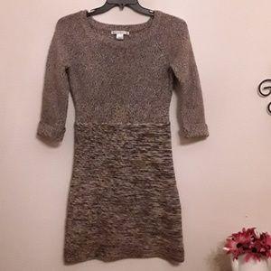 Maggy London sweater dress,  Sz L,  Brown